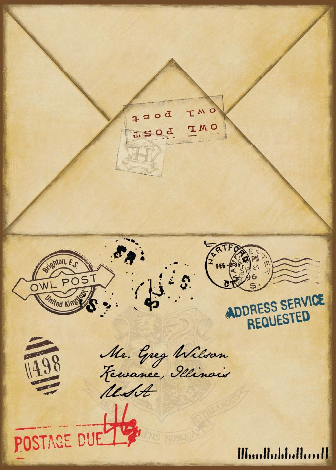 Clever image for hogwarts envelope printable