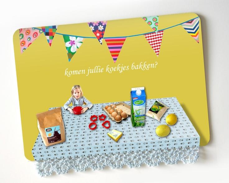 lightbluegrey: Invitation: Let's knead party. Koekjesbakfeest (met koksmutsen)