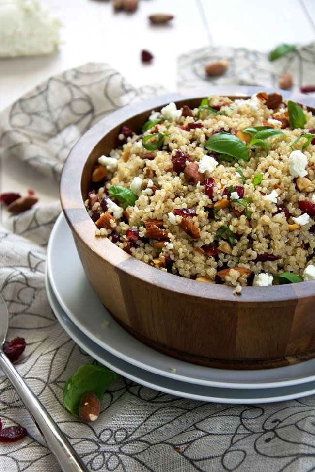 A simple, make ahead quinoa salad filled with tart ...