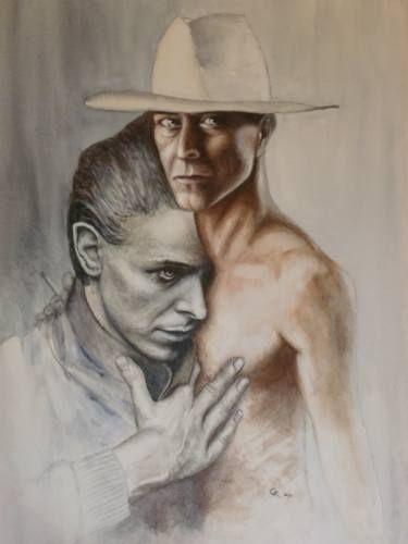 "Saatchi Art Artist Graham Edden; Painting, ""True Capricorn  ( Composite Portrait David Bowie )"" #art"