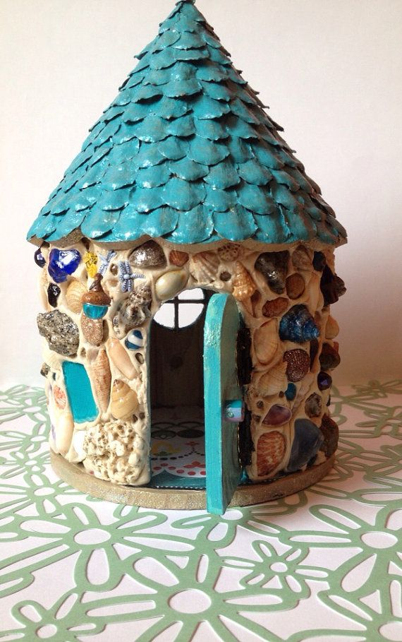 Seaside Fairy Garden House by DownriverCrafters on Etsy, $40.00