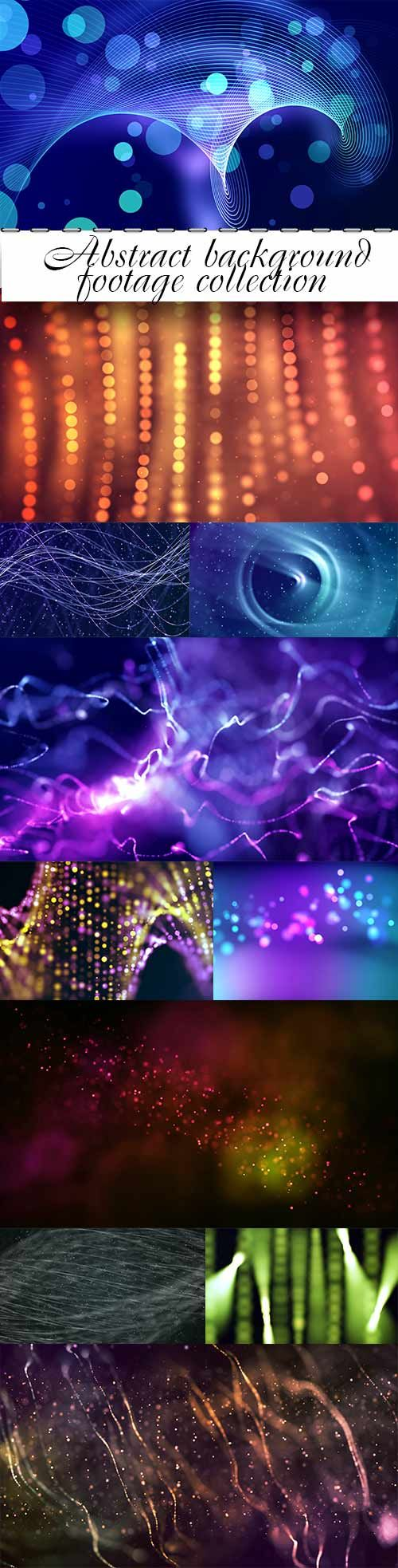Abstract background footage collection