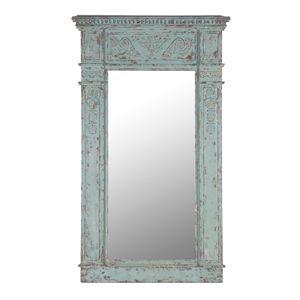 Spectacular Distressed Aqua Column Mirror x cm