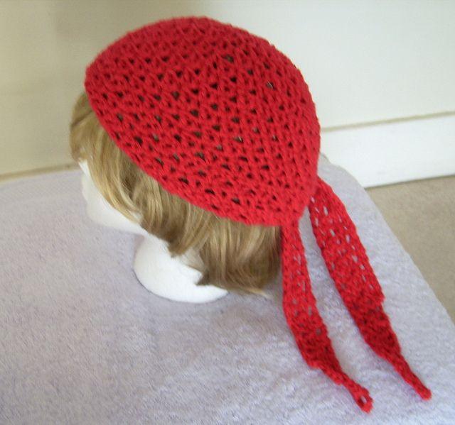 Crochet A Joan Crawford Silent Movie Gypsy Head Scarf/Hat
