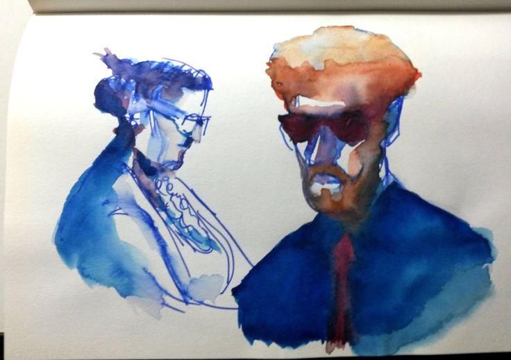 Sketchbook - people - subway - Welton Santos