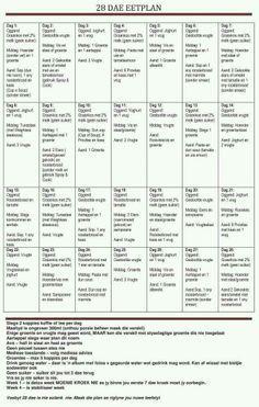 28 dae eetplan