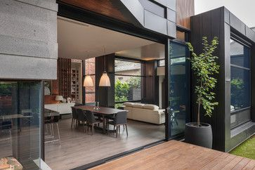 Old Victorian home renovated and extended by Nicholas Murray Architects (NMA) contemporary-dining-room