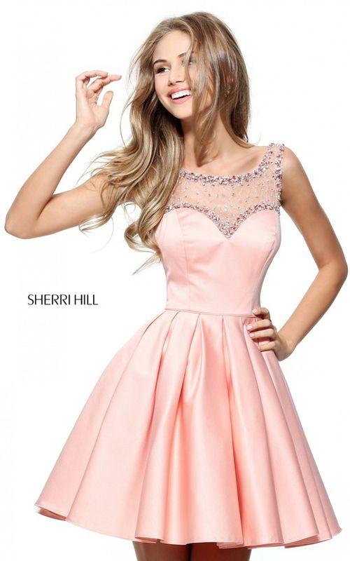 Beaded 2017 Sherri Hill 50962 Cute Short Sweet 16 Party Dress On Sale