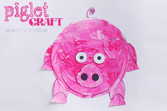 { Piglet Craft w/ Printable }