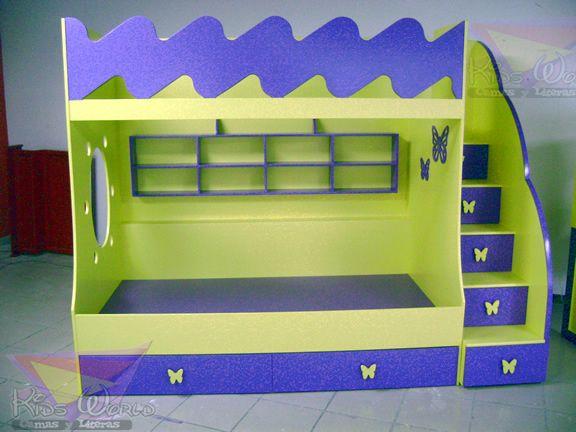 Mejores 86 im genes de muebles en morado en pinterest - Escalera cajones para litera ...