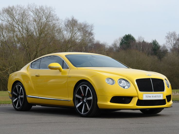 2014 bentley continental gt yellow | 2014 BENTLEY Continental GT V8 'S' Monaco Yellow with Beluga Black ...