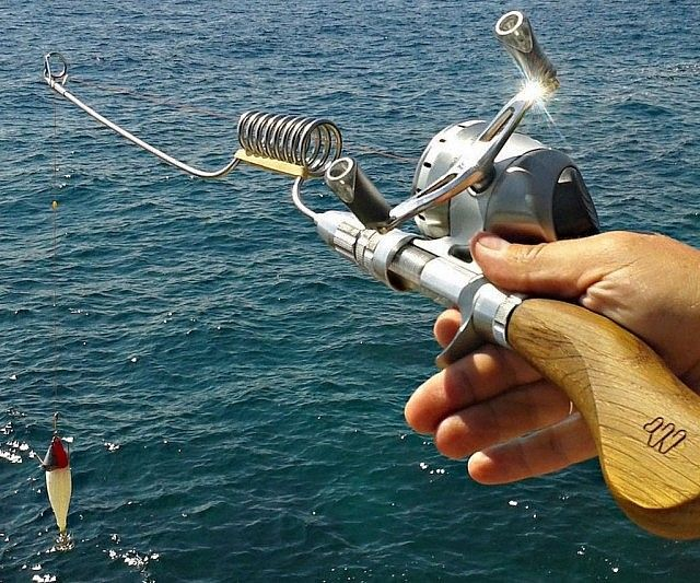 Enjoy the sport of fishing virtually anywhere you travel by bringing along this compact fishing rod. Dubbed the Swiss Army knife of fishing rods, it's made to be salt water resistant and features modular parts that can be interchanged to fit your style of fishing.