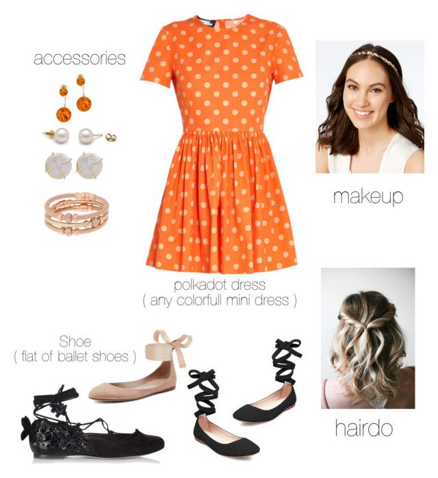 """Arinna's Casual Polka look"" by arini-lioni on Polyvore featuring Jeremy Scott, Steve Madden, Sophia Webster, Josette, Melissa Joy Manning, Henri Bendel and Be-Jewelled"