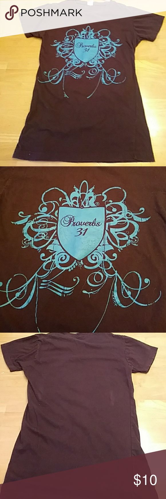 Proverbs 31 small girls tee In perfect condition... Made from 100% combed ringspun cotton. Preshrunk. :) Shirts & Tops Tees - Short Sleeve
