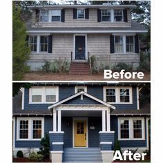 20 Home Exterior Makeover Before and After Ideas - Home Stories A to Z Porch Renovation