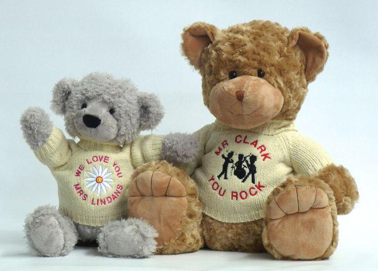 Personalised teacher gifts #myteddy #personalisedteddybears #giftsforteachers