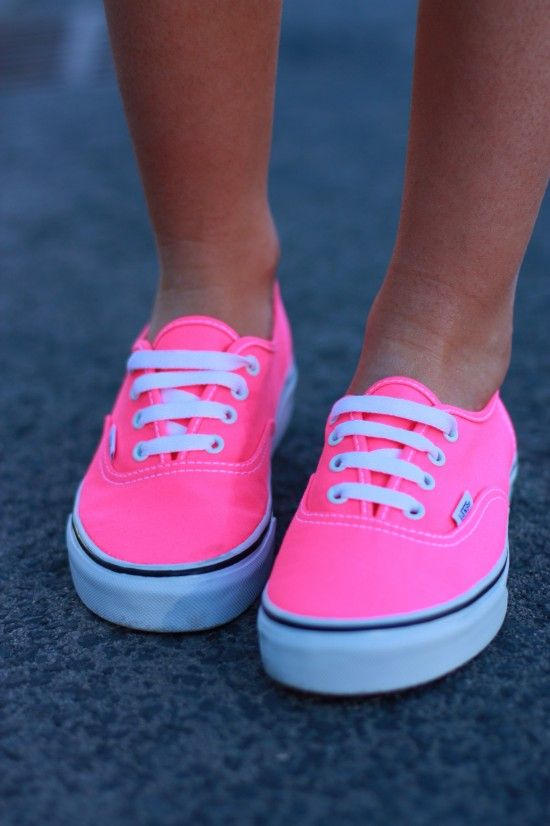 fcea57eaacb7 Pink neon vans I need these.. Love