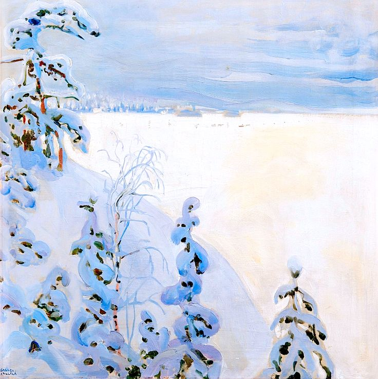 """Winter Landscape"" by Akseli Gallen-Kallela"
