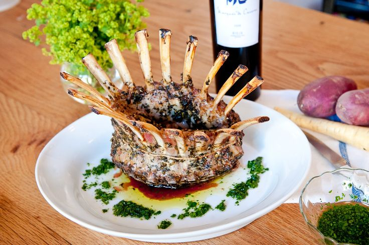 Crown Roast of Lamb With Fresh Herbs Recipe -   How to make a simple, impressive crown roast