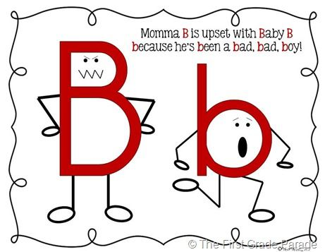 """Distinguishing between """"b and d""""Letters Reverse, Education Resources, Confused, Grade Parade, Kindergarten Literacy, Education Classroom, Elementary Ideas, Kids, First Grade"""