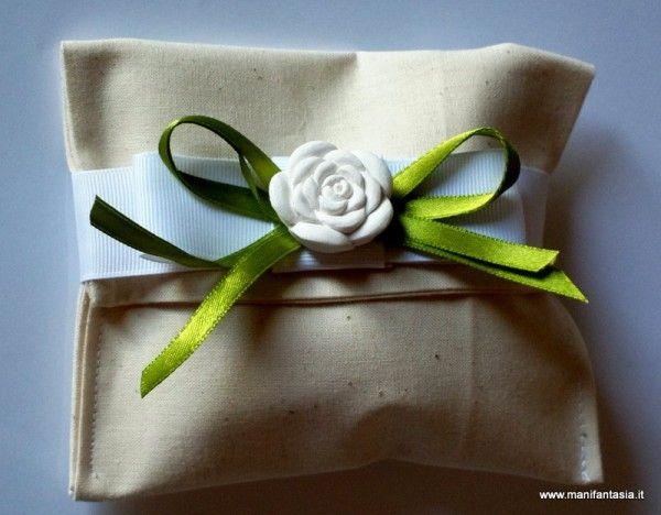 tutorial bomboniera bustina di stoffa cucito creativo