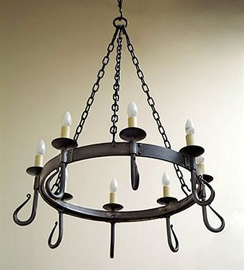 17 Best ideas about Iron Chandeliers on Pinterest | Painted wood ...:'Shepherd's crook' 8-light wrought iron chandelier from Nigel Tyas  #wroughtiron #,Lighting