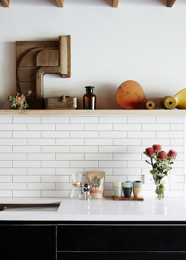 Inside a Charming Australian Cottage // subway tile backsplash