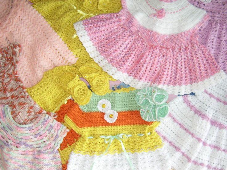 Variedad en Vestidos para niñitas en TRICAR - TEJIDOS BEBES.