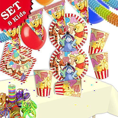 WINNIE PUUH Geburtstag-Deko-Set, 51-teilig zum Kindergeburtstag ...