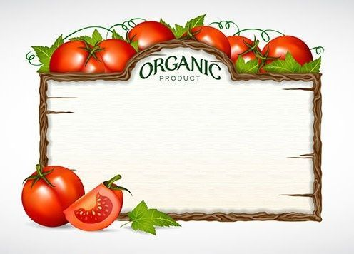 Etiqueta menu art tomato