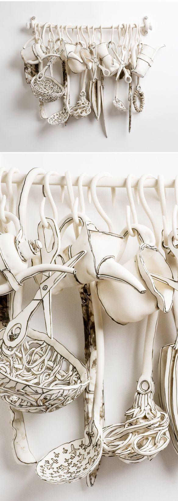 ceramic work of UK based artist Katharine Morling