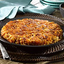Tacu-Tacu is a typical Peruvian recipe that originated as a way to use up left over rice and beans. The leftover rice is mixed with cooked, ...