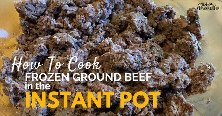 Is it really safe to cook even frozen meat in the Instant Pot electric pressure cooker? You bet! Here's how -