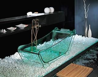 i am obsessed with glass bathtubs. in my forever home there WILL be a glass bathtub!!