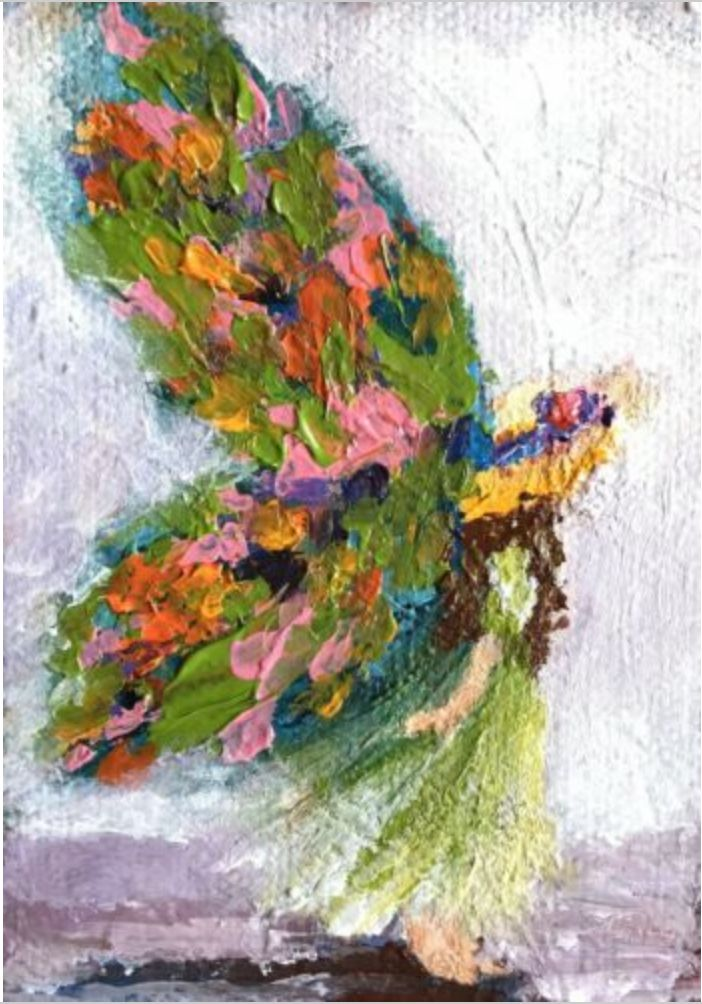 Hand Painted Flower & Fairy Rocks : Hand-Painted Garden