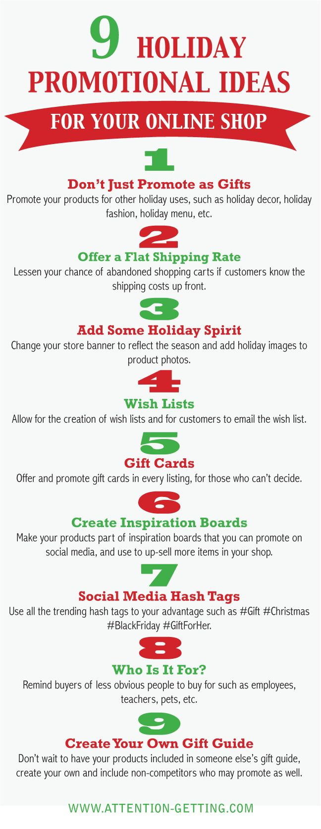 9 Great Ideas for #Marketing Your Small Business for the Holiday Rush @ http://attention-getting.com
