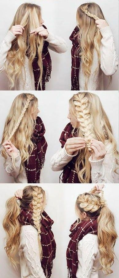 Rock Your Next Holiday Party with this Boho Braided Ponytail