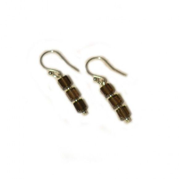 Beautiful earrings made from smokey quartz cubes with sterling silver stops - Only £15 including delivery  Made in Staffordshire, UK  http://www.madecloser.co.uk/jewellery-watches/lkrosa-florence-earrings  #ukmade #britishmade #buylocal