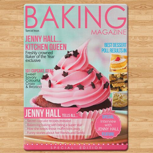 Gift Society   Personalised Baking Magazine Glass Chopping Board