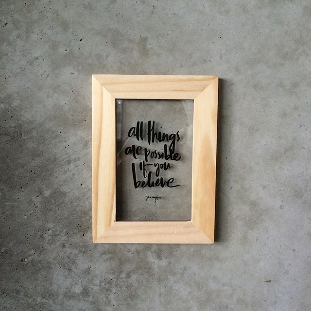 """""""This has to be the cutest little wooden frame artwork! Perspex printing! Typography illustration by the wonderful @janeeyfoo  #silkscreen #screenprint #plasticprinting #typography #illustration #custom #creative #graphics"""""""