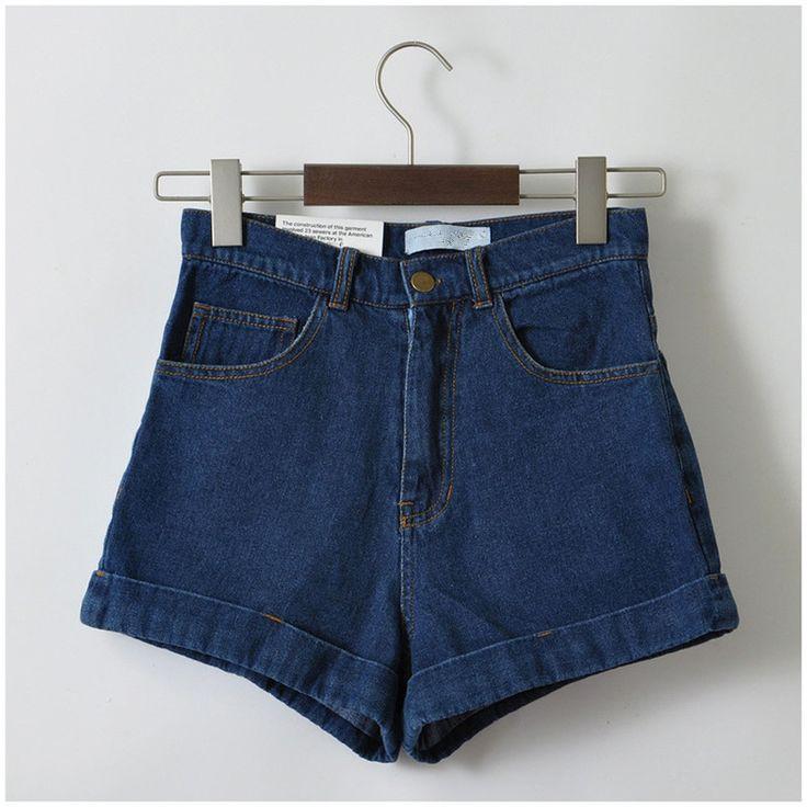 GCAROL Women New Arrival Denim Shorts Vintage High Waist Cuff Jeans Shorts Girls'Street Wear Sexy Plus Size XXL Shorts
