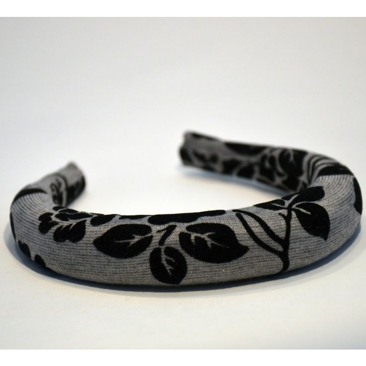 Padded Band - 2.5cm floral grey padded band.  #gabianona #hairfashion #happyhead