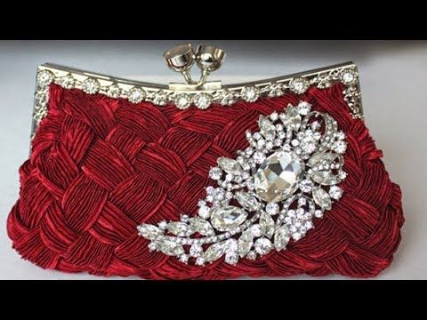 00e78f0fd356 How to make beautiful purse from left fabric | DIY Party wear hand purse  clutch pouch - YouTube