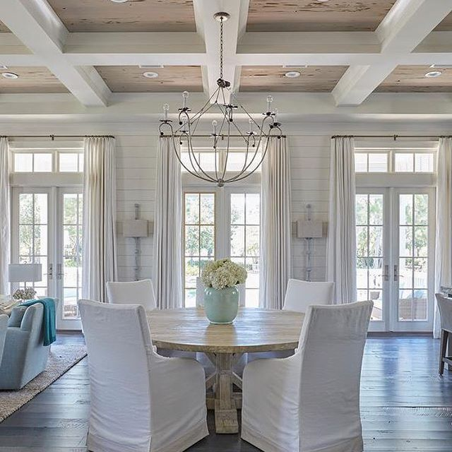 Charming dining table - lots of white and light