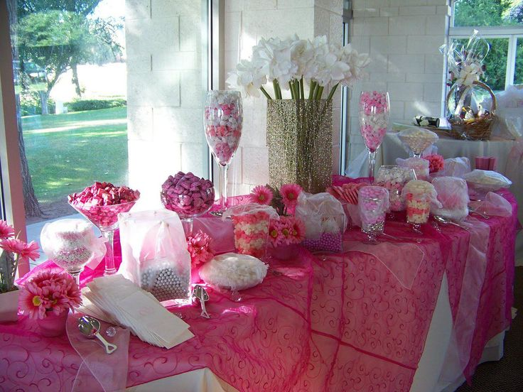 Pretty in pink sweet 16 theme google search sweet 16 pinterest sweet sweet 16 and sweet - Candyland party table decorations ...