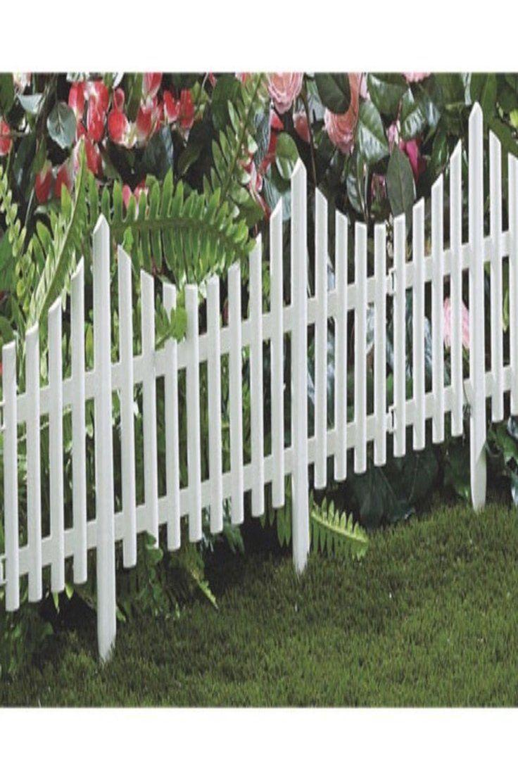 Details About 4 Interlocking Garden Picket Fence Patio Borders