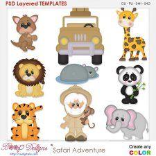 Safari Adventure Layered Element Templates #CUdigitals cudigitals.com cu commercial digital scrap #digiscrap scrapbook graphics