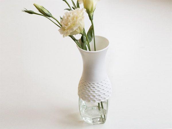 Milk Design, check it @OlgaPlastic Bottle, Lace Tops, Glasses, Lace Sleeve, Milk Design, Lace Vases, Reuse Plastic, Design Shops, Mason Jars