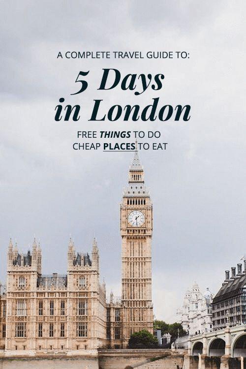 Andare a Londra? Dai un'occhiata a questa guida di Londra completa di 5 giorni Guida di viaggio di Londra …