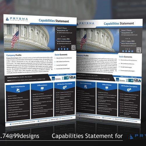 37 best Capability Statement images on Pinterest Brochure design - new 8 capability statement template